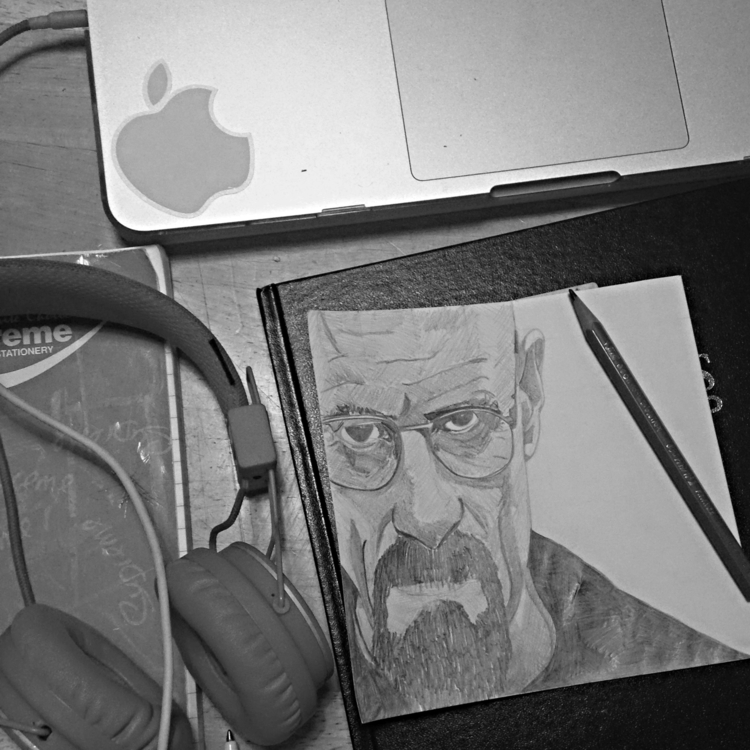 Walter White - pencildrawing, art - seanfinlay_ | ello