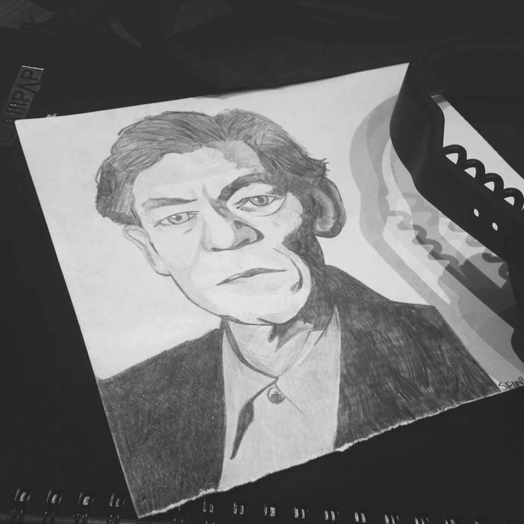 Sir Ian McKellen - pencildrawing - seanfinlay_ | ello