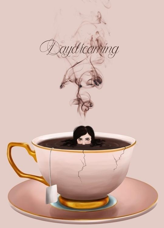 tea, daydream, illustration, painting - alexandratirado | ello