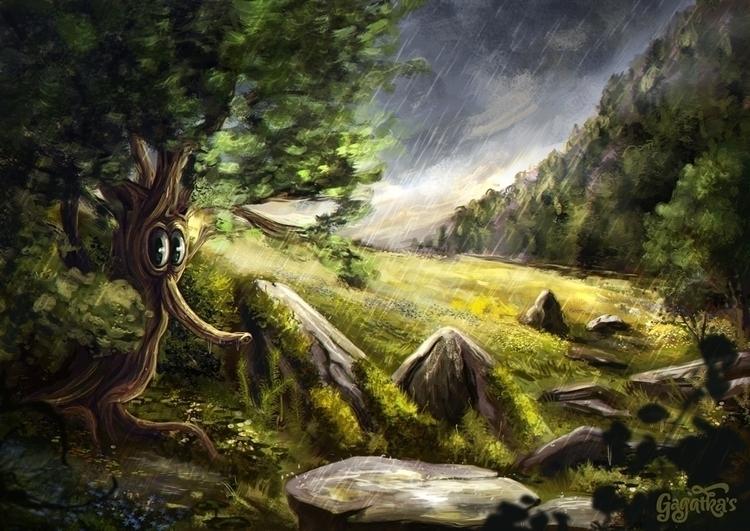 raining yesterday unhappy - tree - gagatka | ello