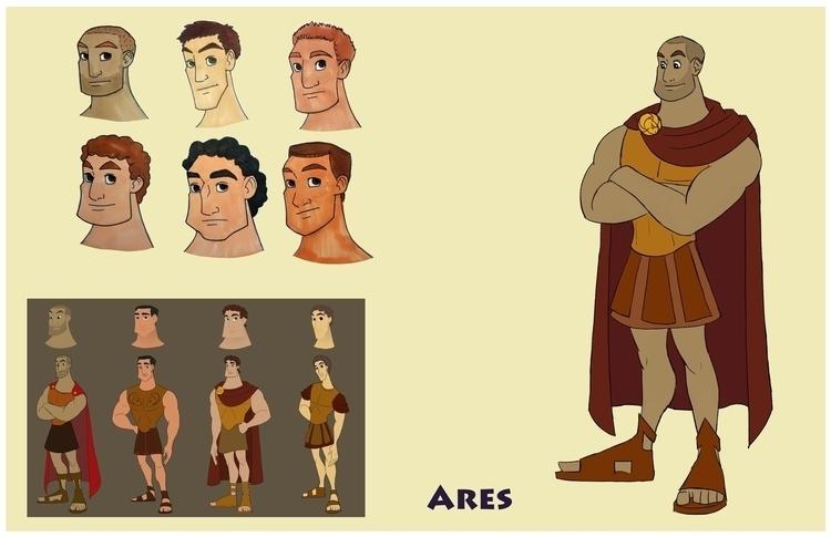 Ares design sheet - greekmythology - gallagirl | ello