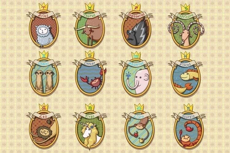 Cartoon Horoscope Animals - animals - pushkina | ello