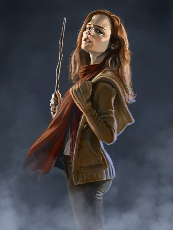 Harry Hermoine - art, digital, portrait - nightshadeberry | ello