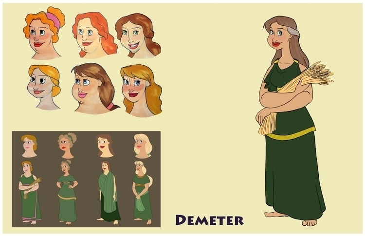 Demeter design sheet - greekmythology - gallagirl | ello