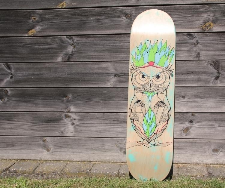 'Owl Skatedeck - owl, animals, skateboard - yana_c | ello