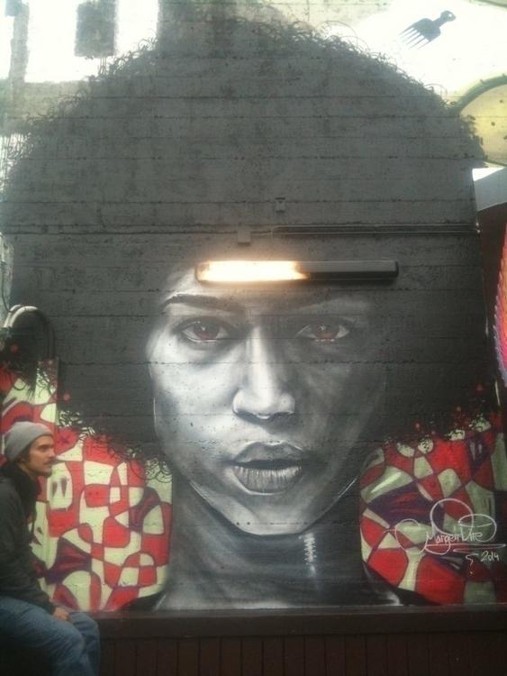 Lady Prikid Mural - painting, mural - margeirdire | ello