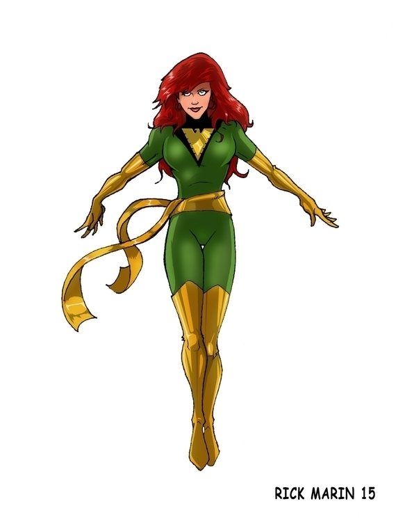 Jean Grey - illustration, animation - rickmarin | ello