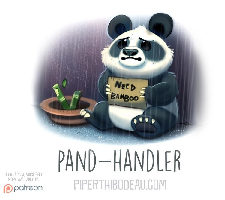 Daily Paint 1553. Pand-Handler - piperthibodeau   ello