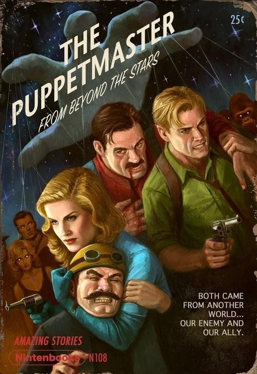 Pulp Nintendo -- Puppetmaster - illustration - astoralexander | ello
