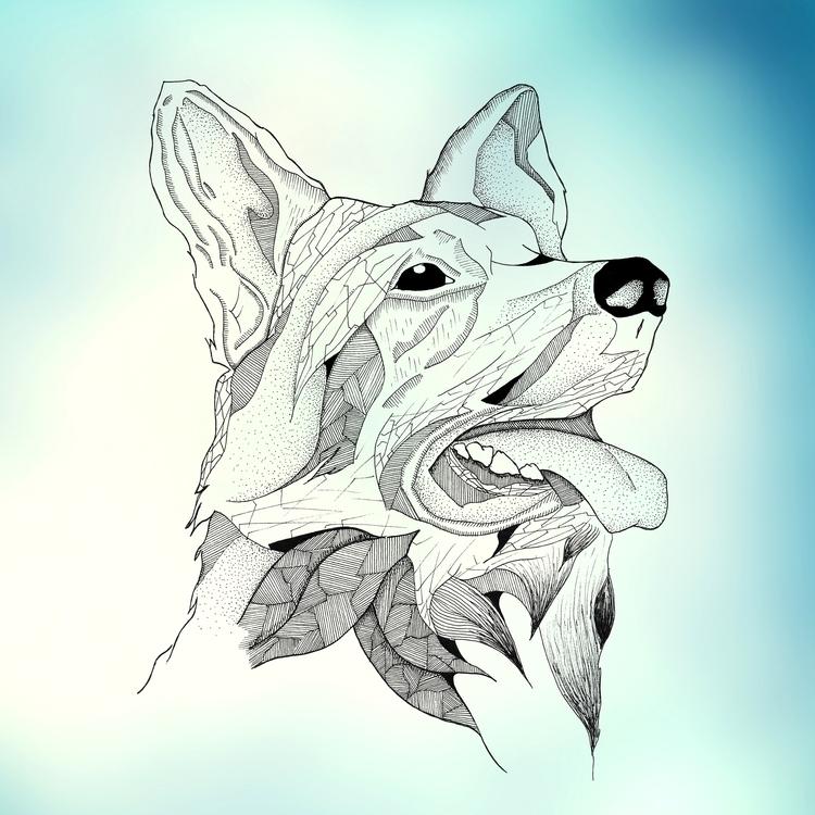 'Jack' german shepherd - illustration - yana_c | ello