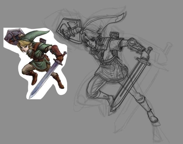 WIP fanart Link (Zelda). stage  - fdrawer | ello
