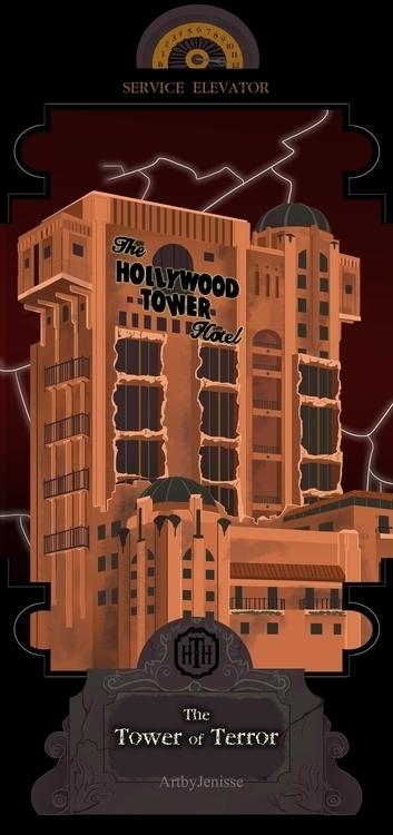 Checking Hollywood Tower Hotel - artbyjenisse | ello