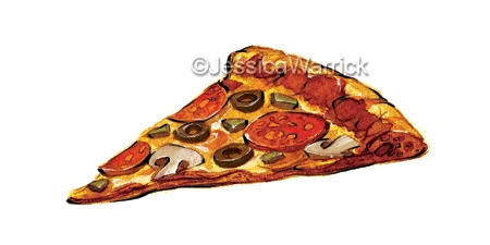 Pizza - pizza, food, foodillustration - jessicawarrick | ello