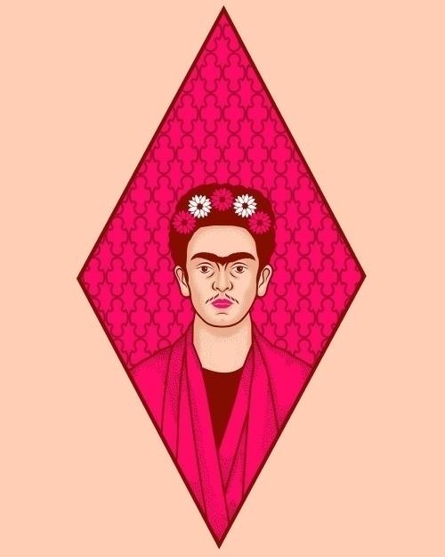 Frida Kahlo Portrait - illustration - pingu-4790 | ello