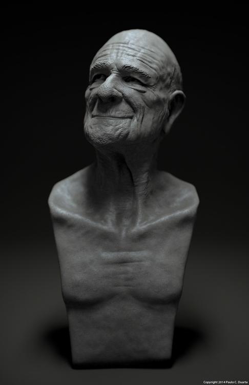 man - characterdesign, 3d, sculpture - pauloduarte-5938 | ello