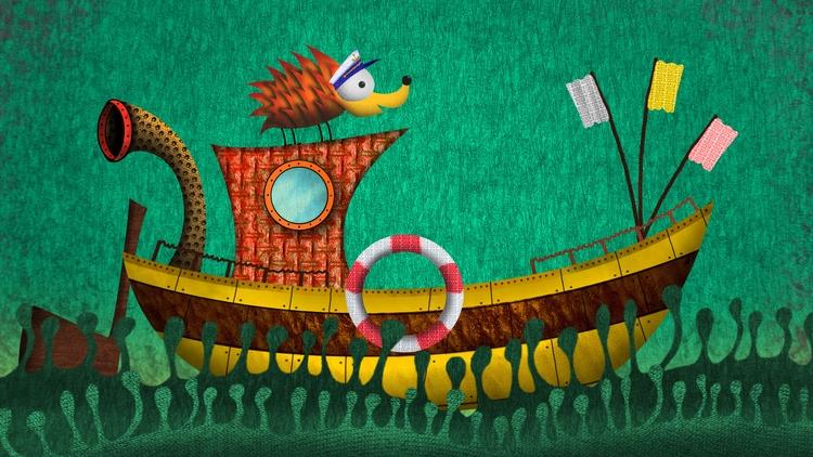 Captain hoglet - kidsillustration - hogletstudio | ello