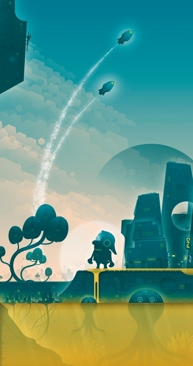 Moonage Daydream - illustration - bradsharp | ello