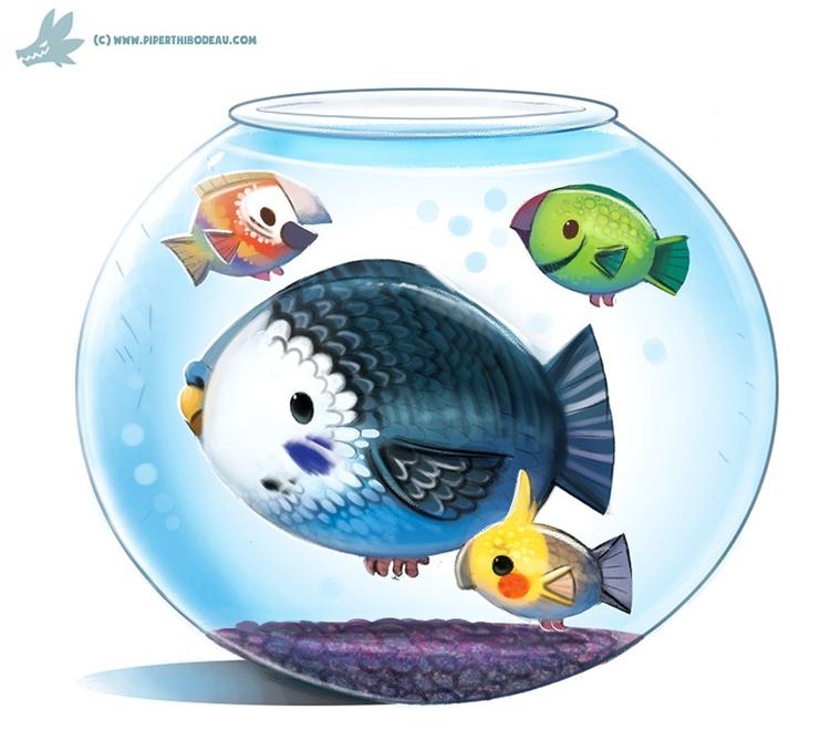Daily Paint Parrot Fish - 1039. - piperthibodeau | ello