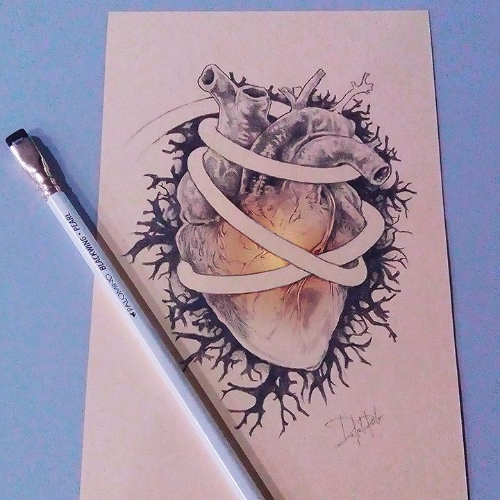 Heart Sophia 022517 - #heart, drawing - pdp-3098 | ello