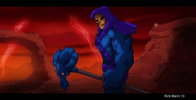 Skeletor - illustration, animation - rickmarin | ello