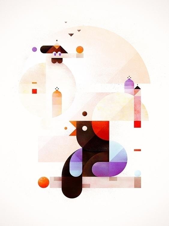 Bubble dream - birds, minimal, abstract - squizzato | ello