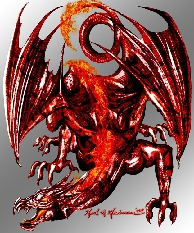 Red Dragon - thelycanknight | ello