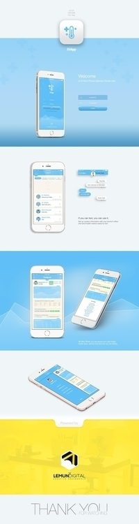 Medical app diabetes tracking - ui - emanuil_sheynin   ello