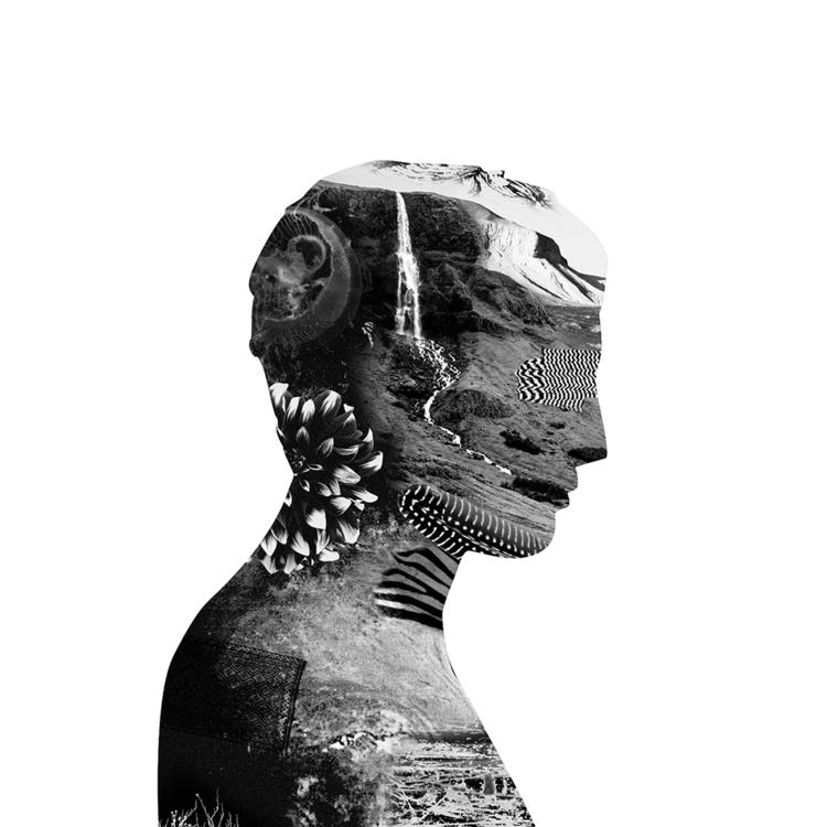 Man white - collage, blackandwhite - antoinegadiou | ello