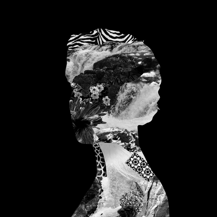 Woman black - illustration, collage - antoinegadiou | ello