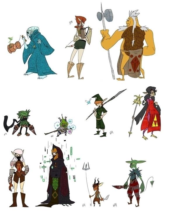 Character Designs Legend Zelda  - zitoisneato | ello