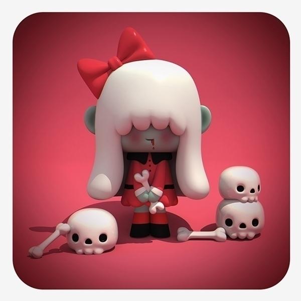 Zombie girl - zombi, 3d, illustration - cecymeade | ello