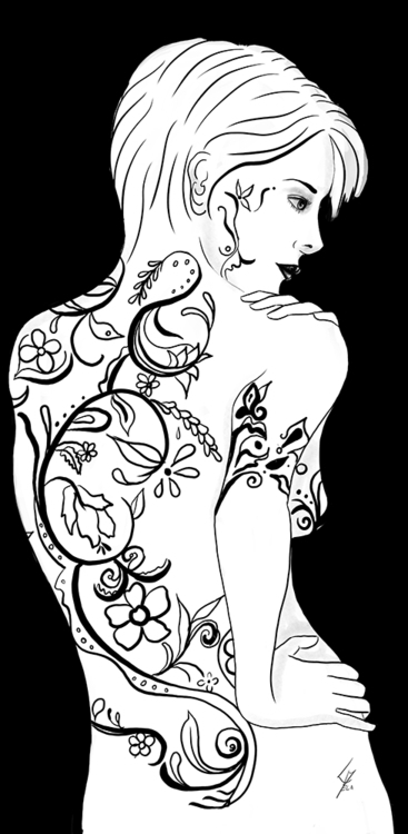 Melanie - illustration, drawing - cecilialamela   ello