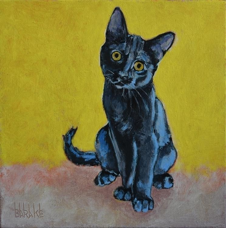 PRETINHO - painting, cats, cat, animals - barakesculptor | ello
