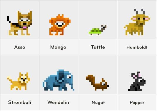 PixelMogul iOS Game - animals - illustration - ala-1037 | ello
