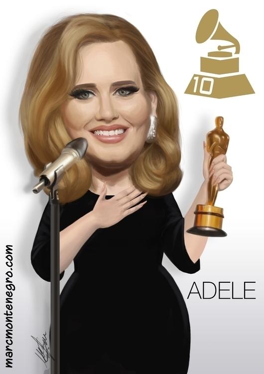 Adele caricature - adele, singer - marcmontenegro | ello