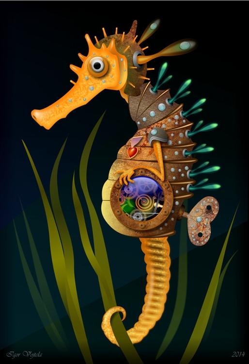 Mechanical Seahorse - vectorillustration - igor01 | ello