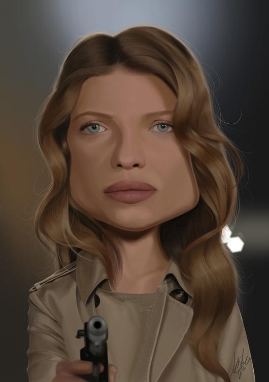 Melanie Thierry caricature - melaniethierry - marcmontenegro   ello