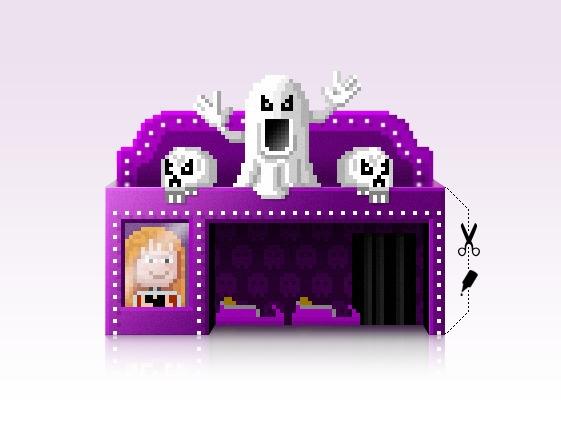 Ghost train FREE PAPERCRAFT MOD - ala-1037 | ello