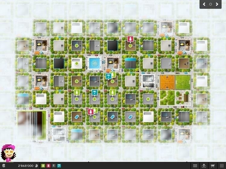 PixelMogul iOS Game - Map - illustration - ala-1037 | ello