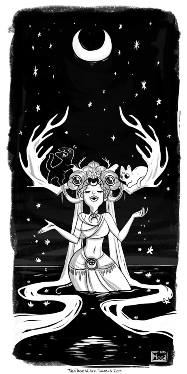 Druid Sailor Moon - sailormoon, ink - teatiger | ello