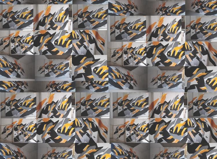 Geometric Paintings - painting, mural - organism-4233   ello