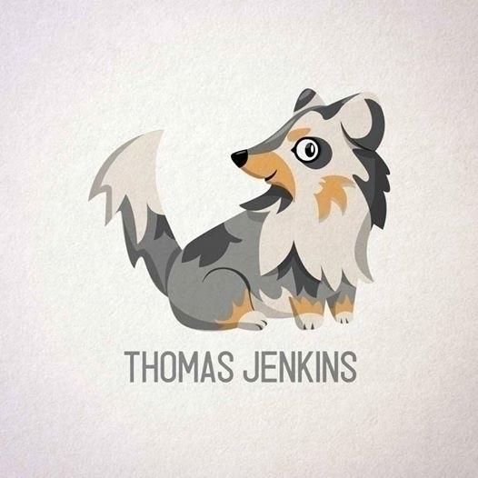 DOG THOMAS JENKINS - illustration - rosseve33 | ello