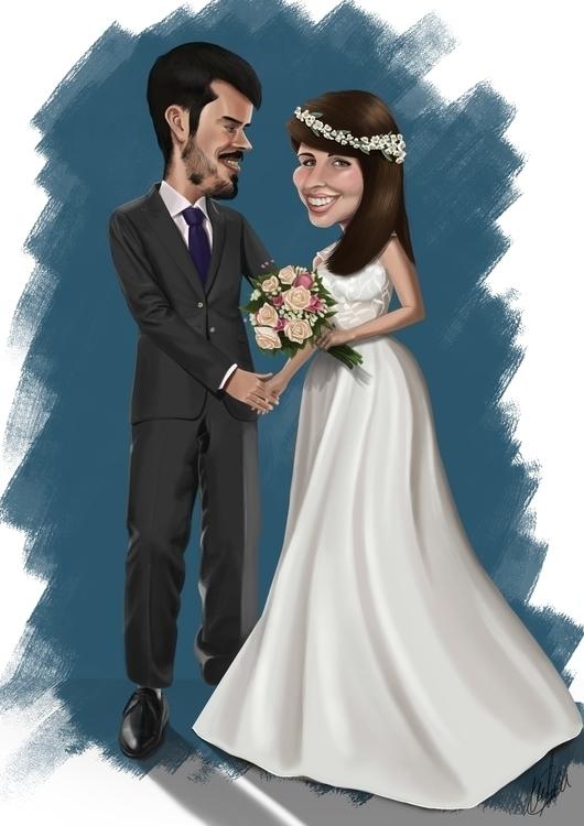 Wedding caricature - wedding - marcmontenegro | ello