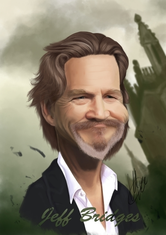 Jeff Bridges caricature - jeffbridges - marcmontenegro | ello