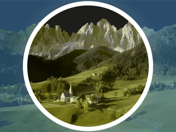 illustration Austrian village m - damour-2211 | ello