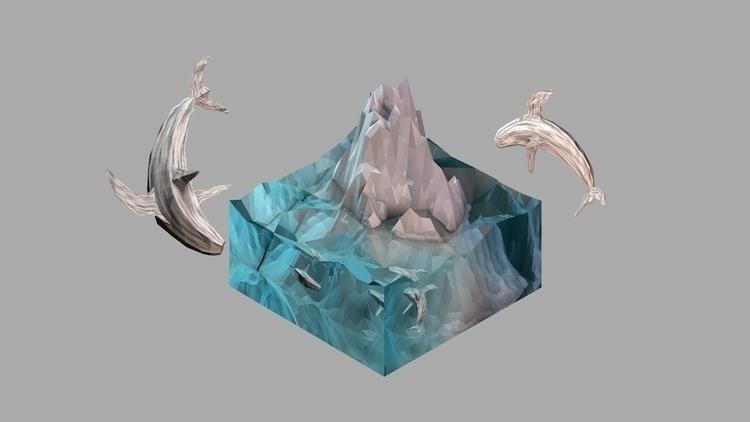 Isometric Arctic Glacier - cinema4d - francisbustinera | ello
