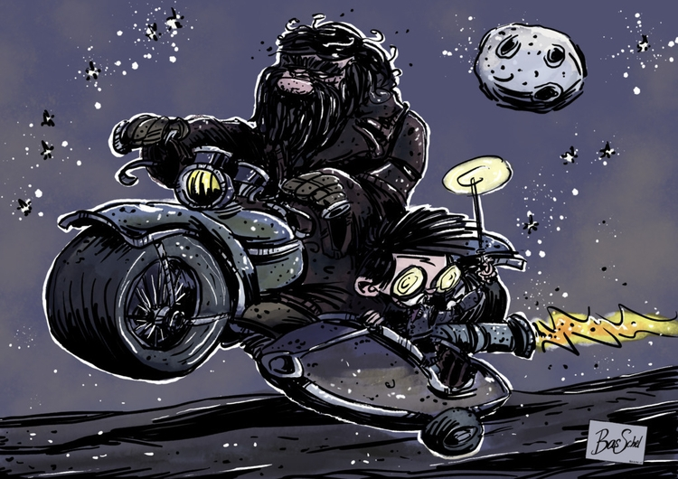 Hagrid Harry run Borrow Deathly - bas0411 | ello