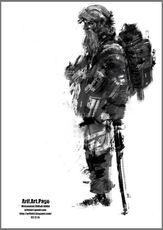 sketches rough brush strokes - illustration - arifnbd | ello