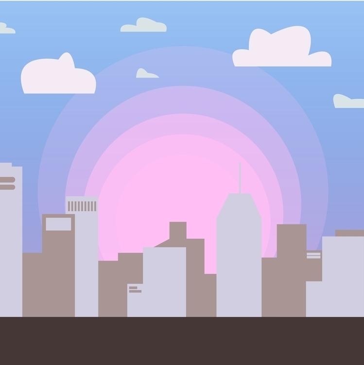 Buildings - illustration, buildings - ilyagroznov   ello