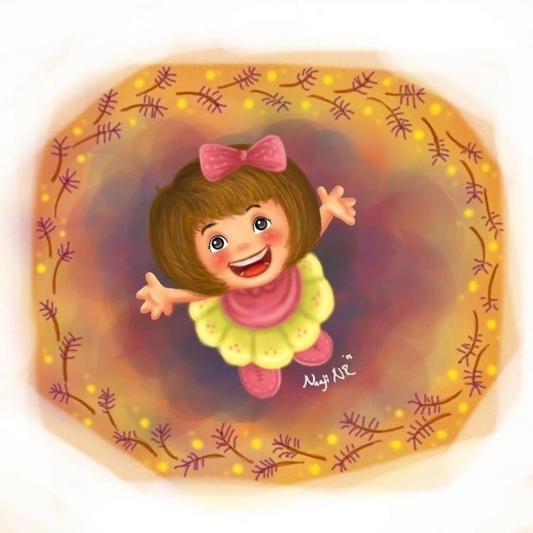 Happy ... syalalalala - illustration - naphipuccino | ello